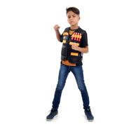 Colete Nerf Infantil Com Bolsos E Espaços P/ Colocar Dardos