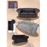 Sillon Chesterfield 2 Cps,original ,fabrica Rosario1.60 Mts.
