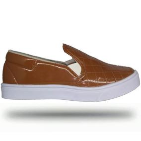 fdc66505a1 Tenis Slip On Feminino Marrom - Sapatos no Mercado Livre Brasil