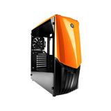 Gabinete Gamer Raidmax Gama A18to Naranja Cristal Templado