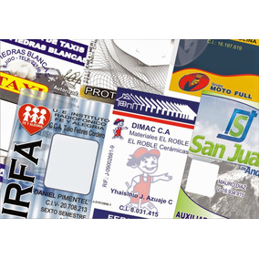 Carnets Credicard Pvc Impresion Nitida Full Color Pto. Ordaz