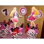 Decoracion Fiesta Barbie Cotillones Centros De Mesa Mdf