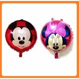 Pack 10 Globos Metalizados Mickey Minnie Grandes Y Bebes