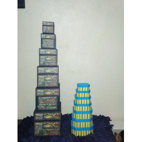Trece Cajas Decorativas Para Guardar Objetos Tipo Matrioshka