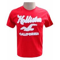 Kit C/5 Camisetas Bordada Hollister Abercrombie Aeropostale