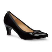 Zapato Zapatilla Negro Piel Pump Andrea 2074887 Tacón Bajo 6