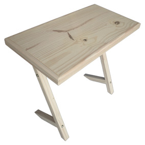 Mesa Escritorio Madera Pino Pc Moderno Pie Inclinado 85x45