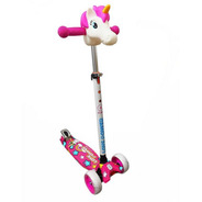 Scooter Monopatin Unicornio Ideal Chica Nena Regulable
