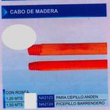 Cabo De Madera Cepillo De Barrendero 1,5 M Na2124 Con Rosca