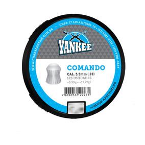 Chumbinho Yankee Premium Comando 5,5mm - 125 Unidades