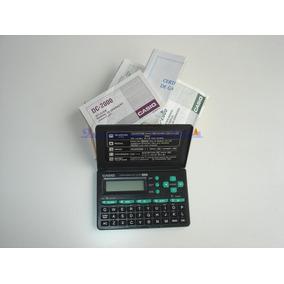 Agenda Data Bank Dc-2000 Casio - Usada C/manual Caixa