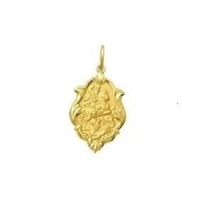 Medalha De São Jorge Ornato 1,0cm Ouro Amarelo