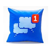 Almofada Decorativa Rede Social Geek Azul Decoração