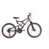 Bicicleta Aro 24 Dupla Susp. 21v Freio A Disco Status