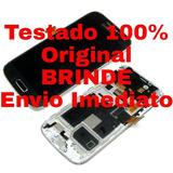 Tela Touch Display C/aro Samsung S4-mini I9192 I9195+ Brinde