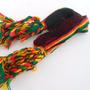 Kit C/12 Pulseiras Reggae Jamaica Artesanato Amizade 1 Cm
