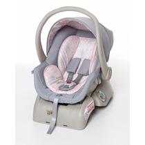 Kit Bebê Conforto + Base Cocoon Cinza E Rosa Galzerano