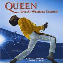 2 Cd Queen Live At Wembley Stadium Importado