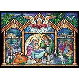 Natividad Del Vitral Religioso Tarjetas De Navidad - Caja D