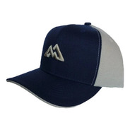 Boné Mountain Wear Azul E Bege / M002