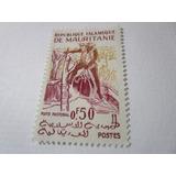 Republica Islamique Mauritanie Ganaderia Estampilla Antigua