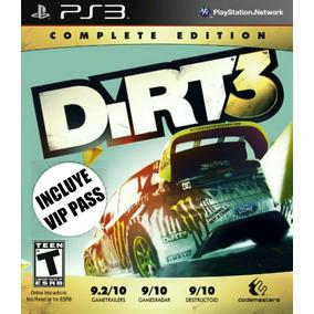 Dirt 3 + V. I. P Pass Español - Mza Games Ps3