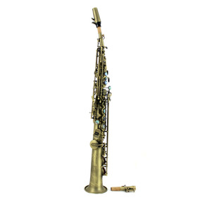 Sax Soprano Sib Profissional Konig Master Séries Envelhecido