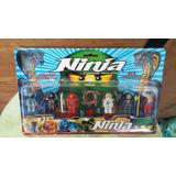 6 Muñecos Ninjago No Articulados Tipo Lego Fighting Spin Top