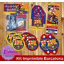 Kit Imprimible Personalizado Fc Barcelona Futbol Real Madrid