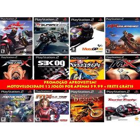 Motocross Ps2 (kit 12 Jogos Play Station 2 Moto Velocidade