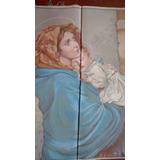 Gobelino Italiano Con Imagen De La Virgen
