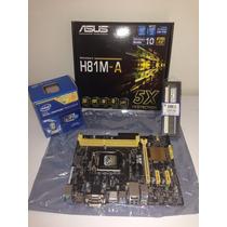 Combo Mother + Procesador + Ddr3 4 Gb Factura Garantia Envio