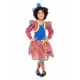 Vestido Infantil De Festa Junina Com Casaquinho Caipira