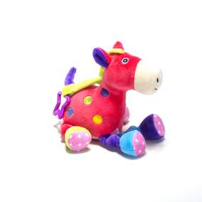 Cavalo Rosa De Pelúcia - Chocalho Infantil - Unik Toys