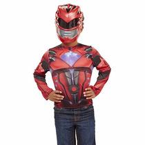 Disfraz Power Rangers Movie Rojo 4/6 Años Original Entrega I