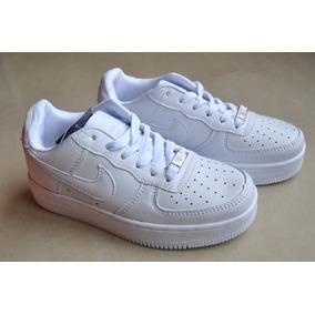 Zapatos Nike Air Force One Blancos Para Damas Y Caballeros