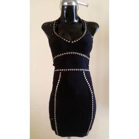 Vestido Marca Bebe Mujer Talla Xs Negro Estilo Bandage