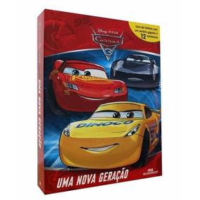 Livro Carros 3 Com 12 Miniaturas - Uma Nova Geração