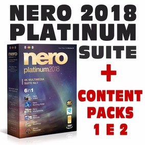 Nero Platinum 2018 Completo + Content Packs 1 E 2
