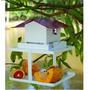 Comedouro Metal Pássaro Silvestre Pet Shop Fercar 30x25x25cm