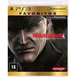 Metal Gear Solid 4 Ps3 Original Nuevo Disco Fisico