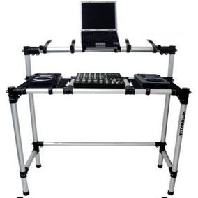 Mesa Rack Dj P/ Cdj E Mixer + Suporte Nb + Par Caixas De Som