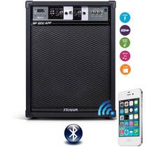 Caixa Som Amplificada Frahm Mf1200 App Bluetooth Usbfm160rms