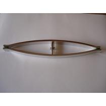 Puxador H Um Furo + Fechadura De Pressão Para Porta De Vidro