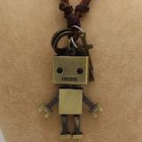 Joya Robot De Calidad Collar Cuero Varón / Mujer