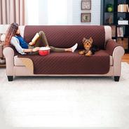 Protector De Sofa 3 Puestos Doble Faz Chocolate - Camel