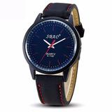 Reloj Pulsera Quartz Análogo De Cuero Para Hombres - Relojes Hombres ... 1c8020f6dd23