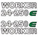 Jg De Emblema Adesivo Volkswagen Vw 24-250e Worker Completo