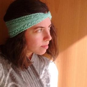 Orejeras Frio Vincha De Lana Mujer Crochet Tejido Artesanal