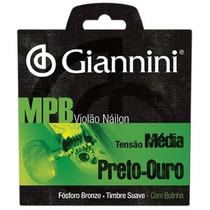 Encordoamento Cordas Violão Giannini Série Mpb Nylon Genwbg